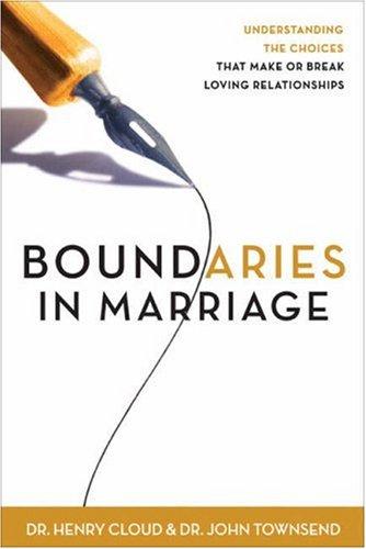 Boundaries in Marriage 9780310221517