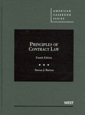 Burton's Principles of Contract Law, 4th 9780314195838