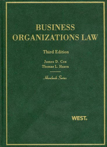 Business Organizations Law 9780314160102