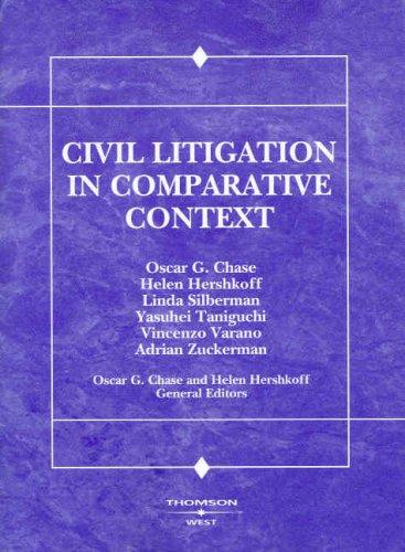 Civil Litigation in Comparative Context 9780314155962