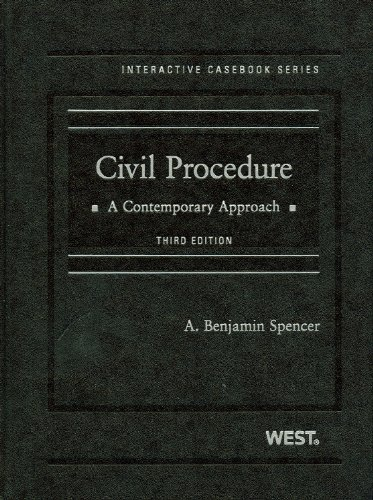 Civil Procedure: A Contemporary Approach [With Access Code] 9780314908643
