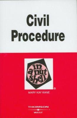 Civil Procedure in a Nutshell 9780314180063