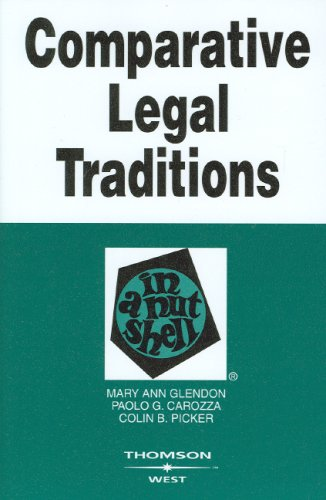 Comparative Legal Traditions in a Nutshell 9780314184283