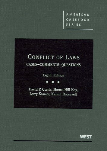 Conflict of Laws: Cases, Comments, Questions 9780314195814