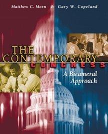 Contemporary Congress: A Bicameral Approach 9780314128041