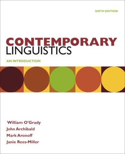 Contemporary Linguistics: An Introduction 9780312555283