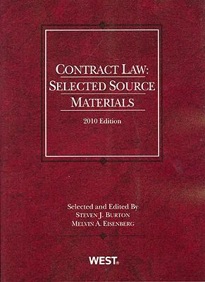 Contract Law: Selected Source Materials, 2010 9780314920171