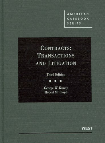 Contracts: Transactions and Litigation 9780314267481