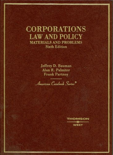 Corporations Law and Policy: Materials and Problems 9780314166289