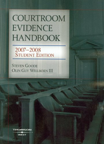 Courtroom Evidence Handbook 9780314179852