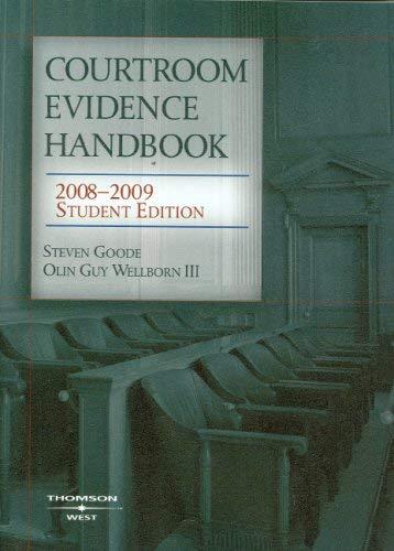Courtroom Evidence Handbook 9780314190550