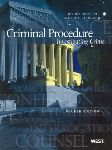 Criminal Procedure: Investigating Crime 9780314202772