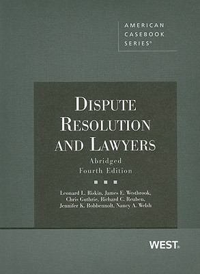 Dispute Resolution and Lawyers 9780314195739