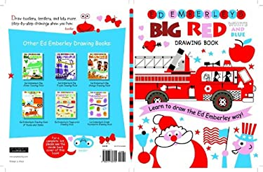 Ed Emberley's Big Red Drawing Book White and Blue 9780316789745