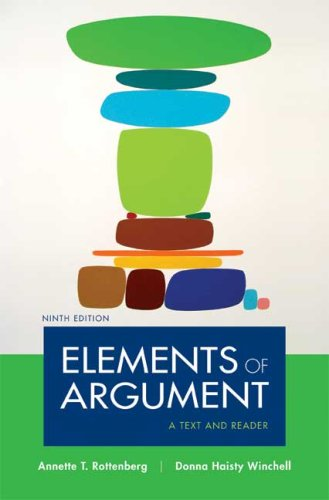 Elements of Argument: A Text and Reader 9780312480479