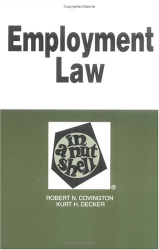 Employment Law in a Nutshell 9780314232359