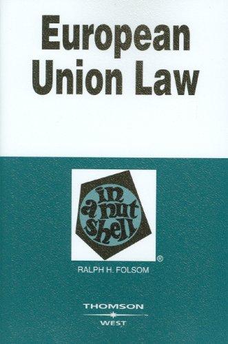 European Union Law in a Nutshell 9780314189868