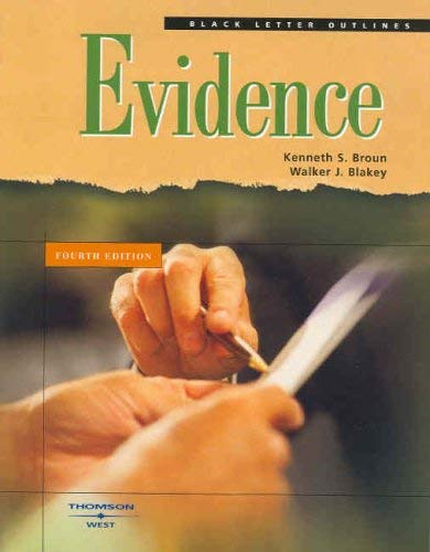 Evidence [With CDROM] 9780314158963