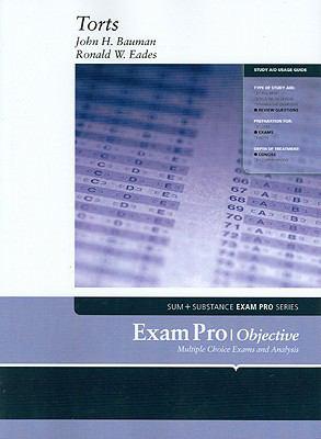 Bauman and Eades' Exam Pro on Torts 9780314161475