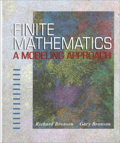 Finite Mathematics: A Modeling Approach 9780314063946