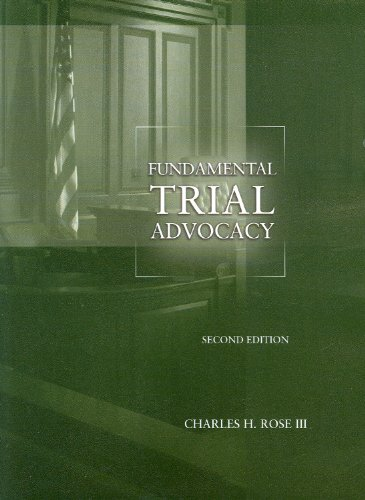 Fundamental Trial Advocacy 9780314202833
