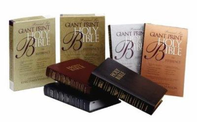 Giant Print Reference Bible-KJV-Personal Size, Bronze 9780310912545