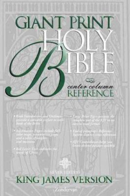 Giant Print Reference Bible-KJV-Silver 9780310911180