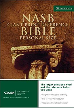 Giant Print Reference Bible-NASB-Personal Size 9780310916611