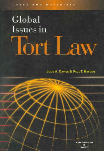 Global Issues in Tort Law 9780314167590
