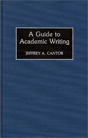 A Guide to Academic Writing 9780313290176