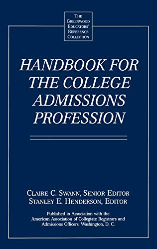 Handbook for the College Admissions Profession 9780313291135