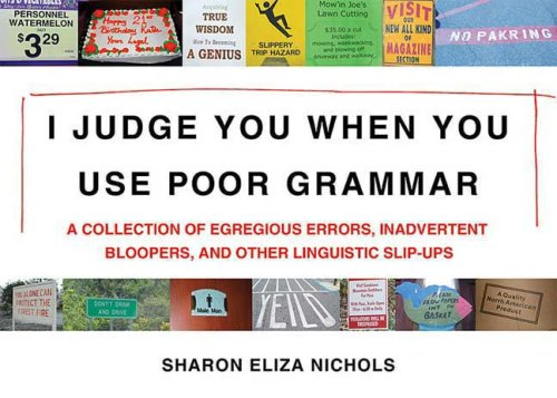 I Judge You When You Use Poor Grammar: A Collection of Egregious Errors, Disconcerting Bloopers, and Other Linguistic Slip-Ups 9780312533014