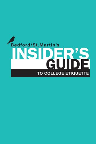 Insider's Guide to College Etiquette 9780312678241