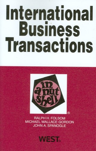 International Business Transactions in a Nutshell 9780314195210