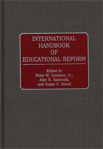 International Handbook of Educational Reform 9780313272776