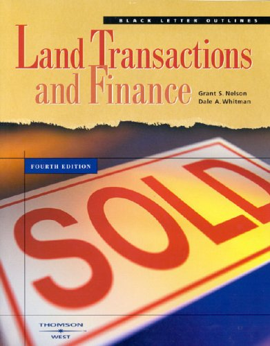 Land Transactions and Finance 9780314150431