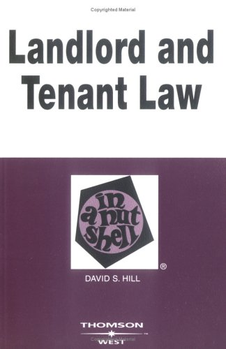 Landlord and Tenant Law in a Nutshell 9780314259981
