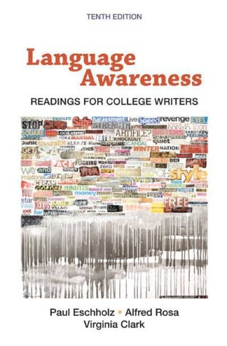 Language Awareness: Readings for College Writers 9780312463168