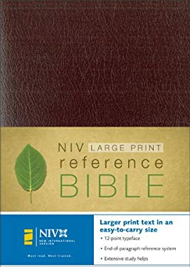Large Print Reference Bible-NIV-Personal Size 9780310905769