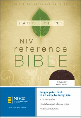 Large Print Reference Bible-NIV-Personal Size 9780310905776