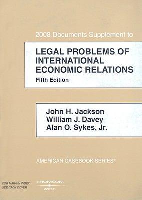 Legal Problems of International Economic Relations Supplement 9780314160331