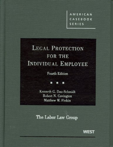 Legal Protection for the Individual Employee 9780314926029