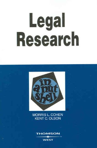 Legal Research in a Nutshell 9780314180070