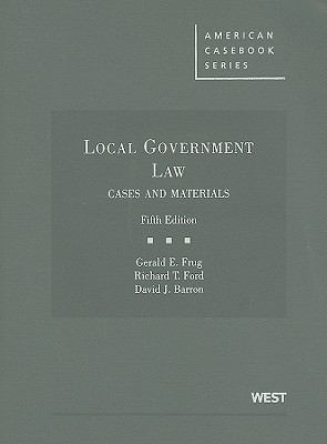 Local Government Law: Cases and Materials 9780314908797
