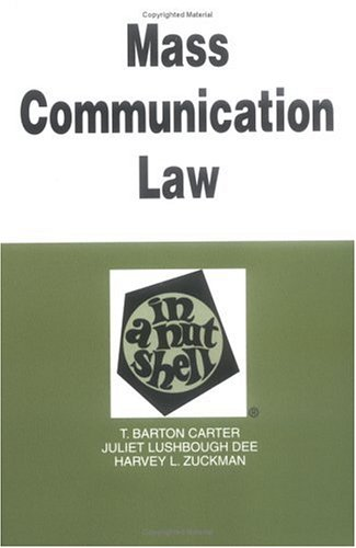 Mass Communication Law in a Nutshell 9780314238313