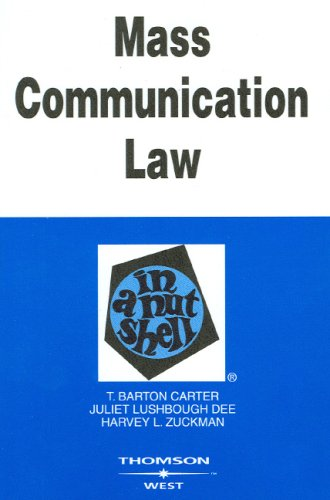 Mass Communication Law in a Nutshell 9780314160201