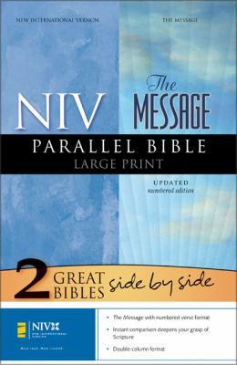 Message Parallel Bible-NIV-Numbered Large Print 9780310937111