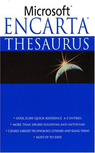 Microsoft Encarta Thesaurus 9780312983635