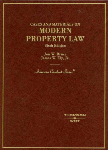 Modern Property Law: Cases and Materials 9780314168986