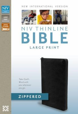 NIV Thinline Zippered Collection Bible, Large Print 9780310421375